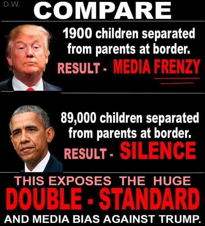 trump vs obama separating familes