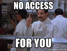 no access for you