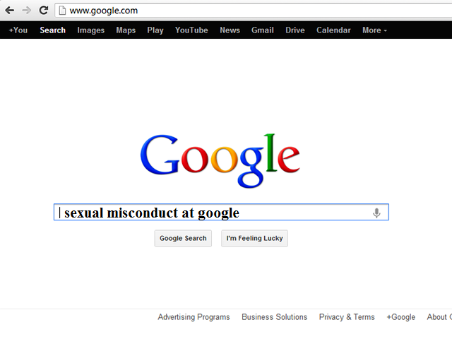 Google sexual misconduct
