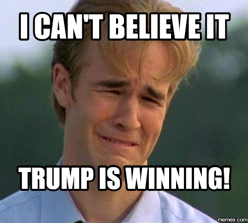 trump winning and cant believe