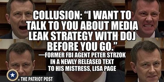 strzok media leak strategy