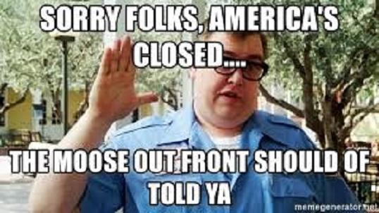 americas closed