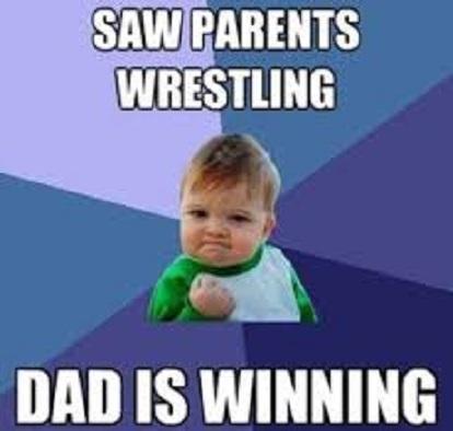 funny meme dad winning