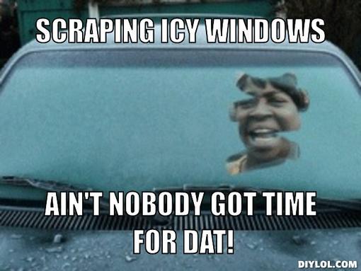 funny meme icy window