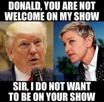 trump and degeneres